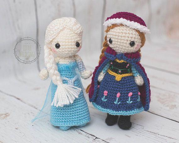 Congelados inspiradora muñeca ganchillo de por TheLittleWildlings