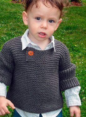 Side Flap Sweater - Knitting Patterns by Marjorie Dussaud