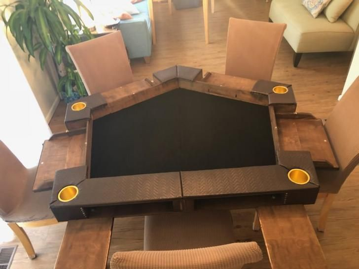 Dnd Folding Pentagon Shaped Table Dnd Table Table Games Gaming