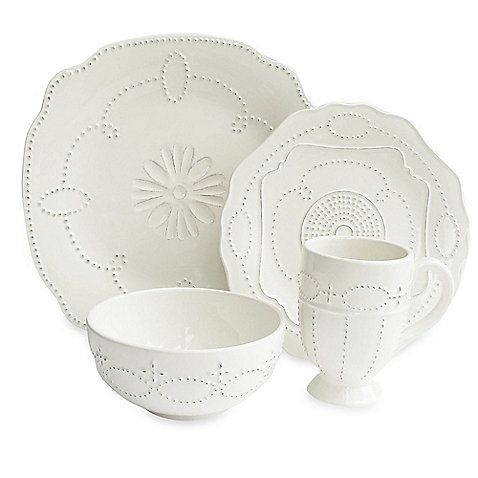 This Gabrielle Scallop 16-piece dinnerware set from the American Atelier collection employs a classically  sc 1 st  Pinterest & 35 best Dinnerware images on Pinterest | Dish sets Dinnerware sets ...