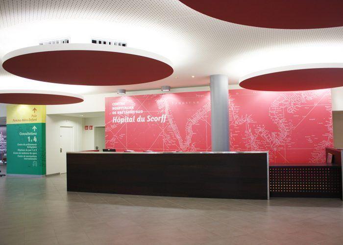Signalétique du centre hospitalier - Hall d'entrée