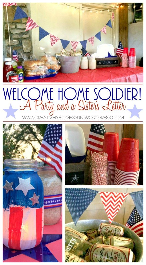 Welcome home soldier party militarylife homeonleave for Welcome home soldier decorations