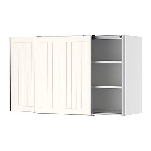 Ikea Kitchen Cupboard Doors: FAKTUM Wall Cabinet With Sliding Doors IKEA Sliding Doors; Requires Less Space When Open Than A