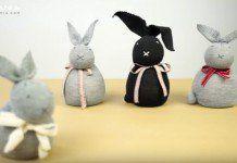 Fabriquer un lapin de Pâques avec une chaussette