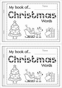 FREE My Book of... Christmas Words. A half-page vocabulary booklet to make learning new words fun! Great for a writing center!