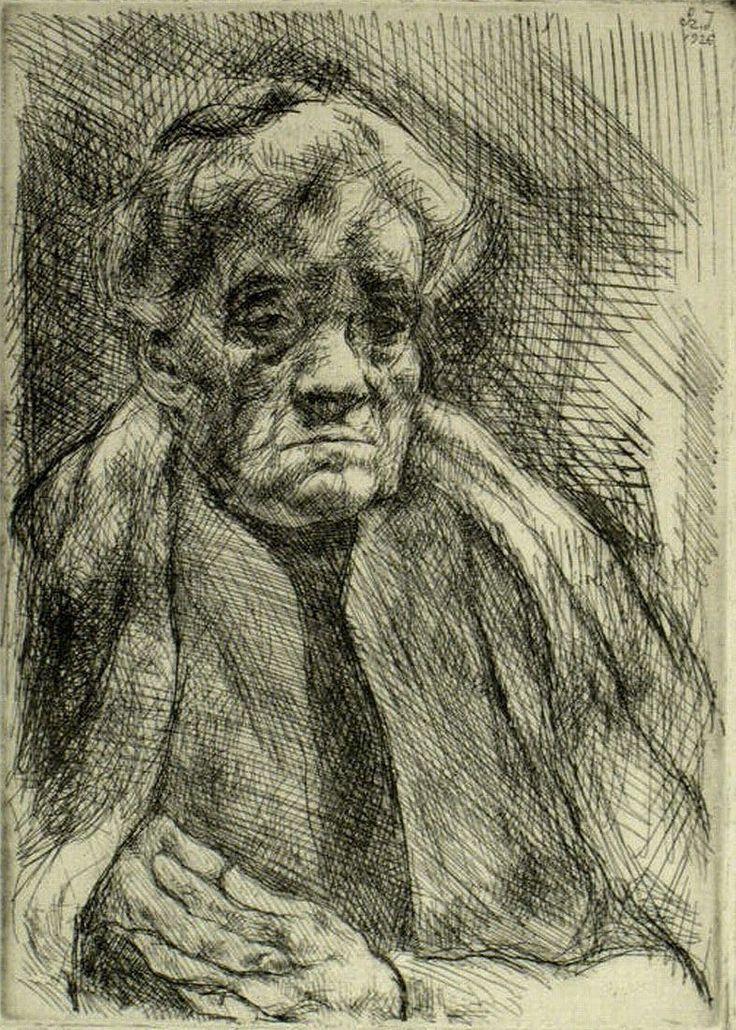 SZŐNYI ISTVÁN (1894-1960) alkotása rajz az édesanyjáról