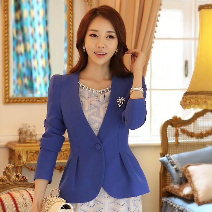 Wholesale Suits & Blazers - Buy 2014 Fall Blue/Rose Red/Black/White Blazer For CPW Women's Suit 2014 New Fashion Pleated One Button Slim Waist Jacket F83032, $24.66 | DHgate