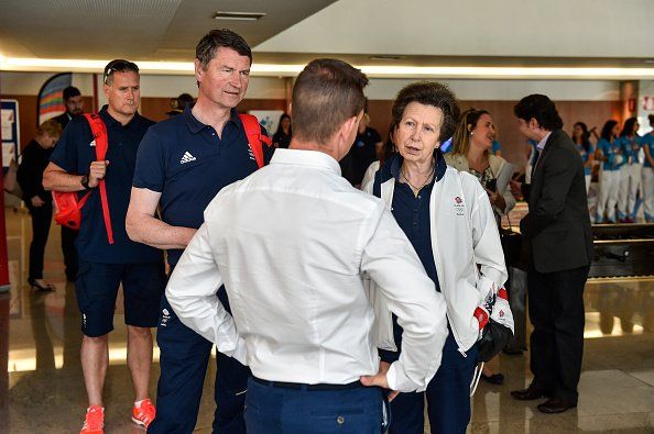 """Gert's Royals on Twitter: """"Not surprise to see Princess Anne's Husband Timothy Laurence accompanied her to Rio. Couple visited Team GB today"""