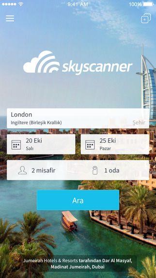 Skyscanner - Oteller skyscanner adlı geliştiriciden