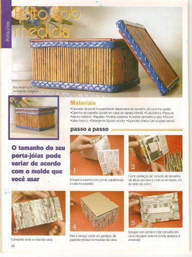 cesteria en papel periodico de la web - Vanesa Sanz - Álbumes web de Picasa