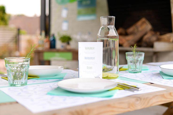 Beleef een dromerig feest met de Vederlichte menukaarten – Beaublue #menu #vederlicht #partybox #beaublue