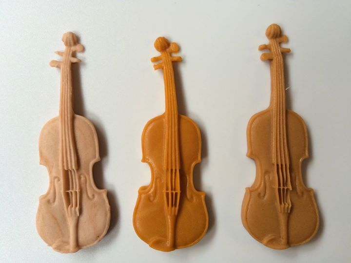 Cake Decorations Musical Instruments : music cupcake toppers 12pcs Violin Viola Cello edible ...
