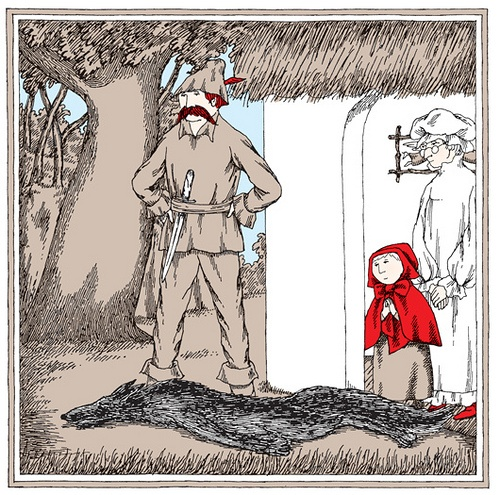 "Gorey - illustrations for ""Little Red Riding Hood"""