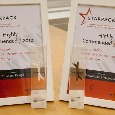 Starpack awarded Wishbhone's retail package in two categories