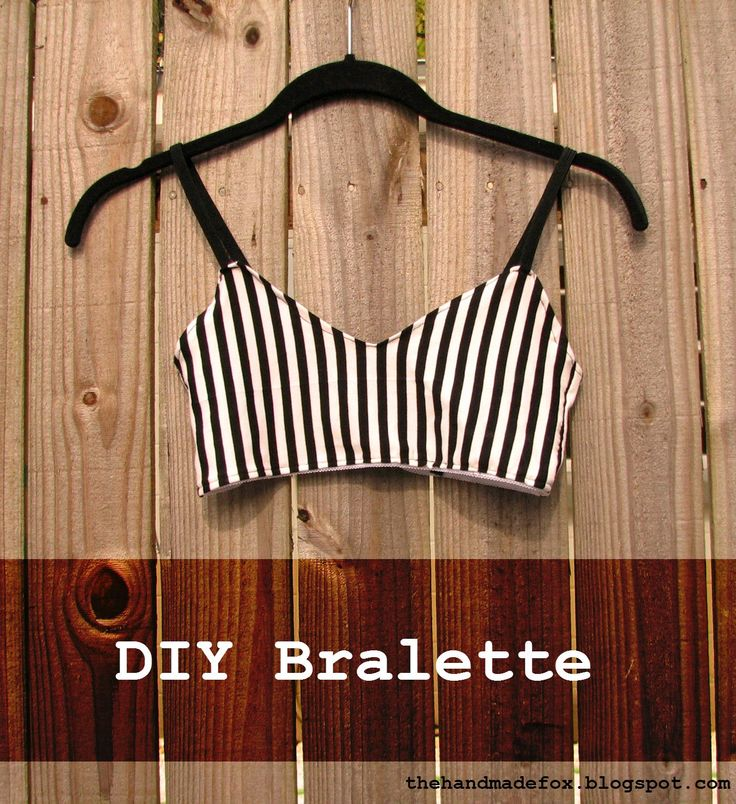 The Handmade Fox: DIY Bralette--First Draft