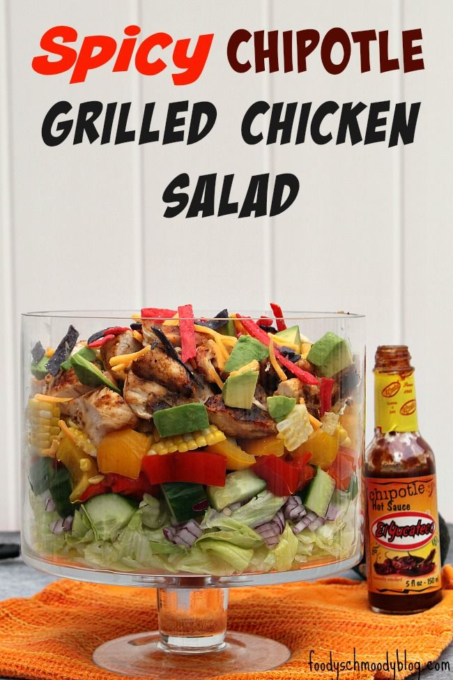 Spicy Chipotle Grilled Chicken Salad with Chipotle Ranch Dressing