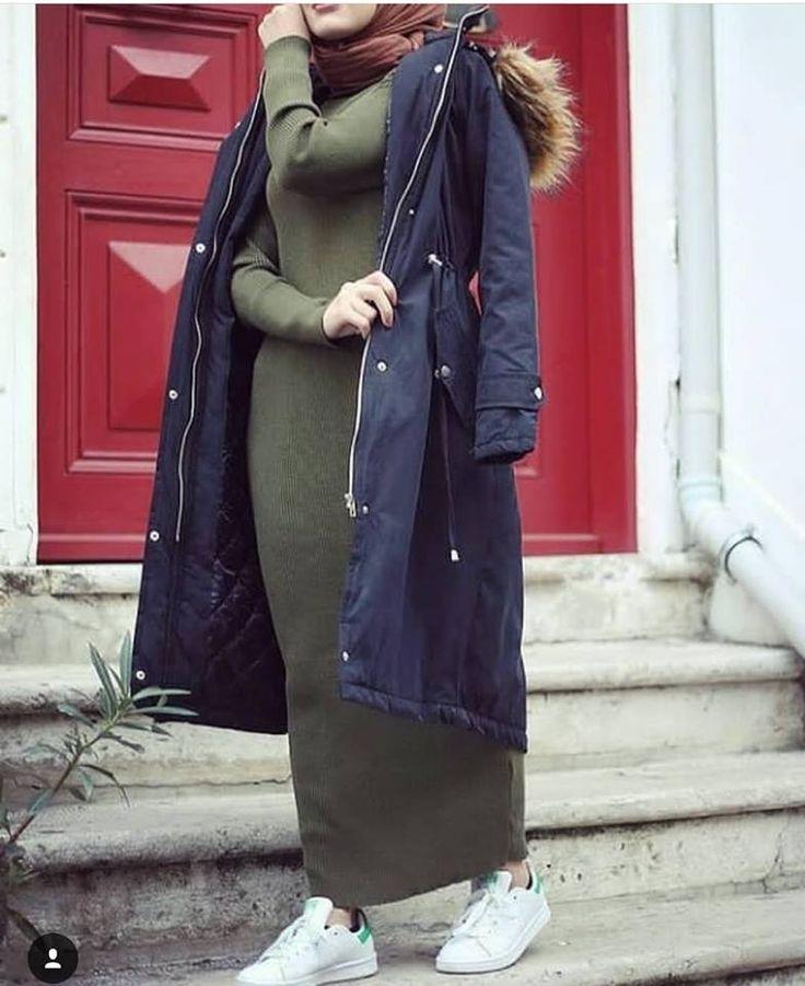 Oversized sweater dress hijab style – Just Trendy Girls: www.justtrendygir... - Just trendy girls