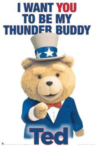 Ted Thunder Buddy Poster