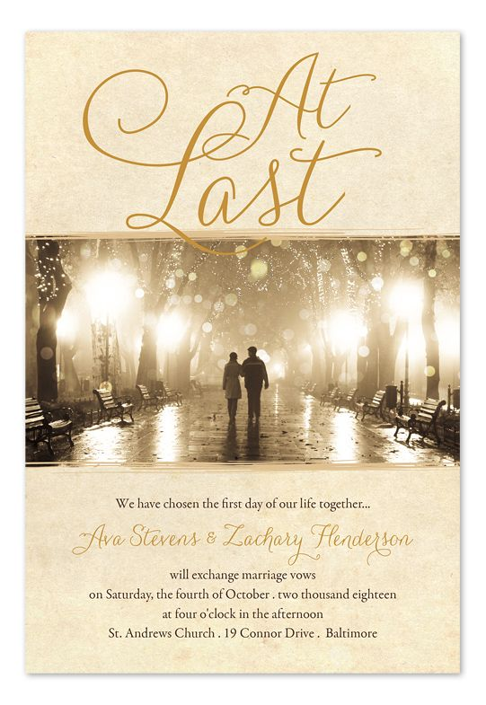 At Last photo wedding invitations