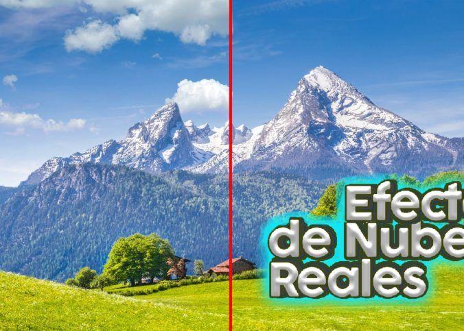 Efecto de NUBES REALES EN PHOTOSHOP fotomontaje de nubes en photoshop