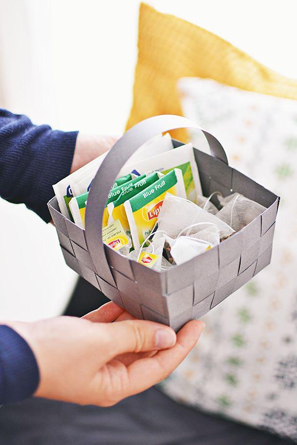 DIY: gevlochten mandje van papier | The Life Factory