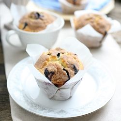 Big Blueberry Muffins with Cinnamon Streusel