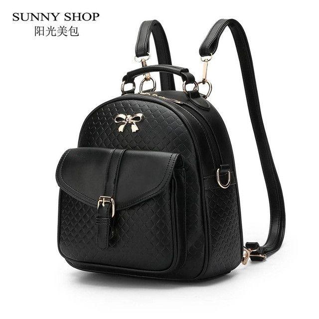SUNNY SHOP 2017 Spring Summer New Arrival Fresh Student Backpack Brand Designer Backpack bagpack school bags for teenagers