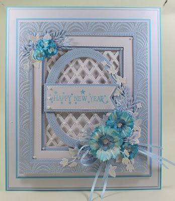 Happy New Years Eve! I thought I would share my New Year card a day early as I am back on Hochanda tomorrow for the Couture Creations Big Save ( shows start at 8pm) Therefore tomorrow I will be showin