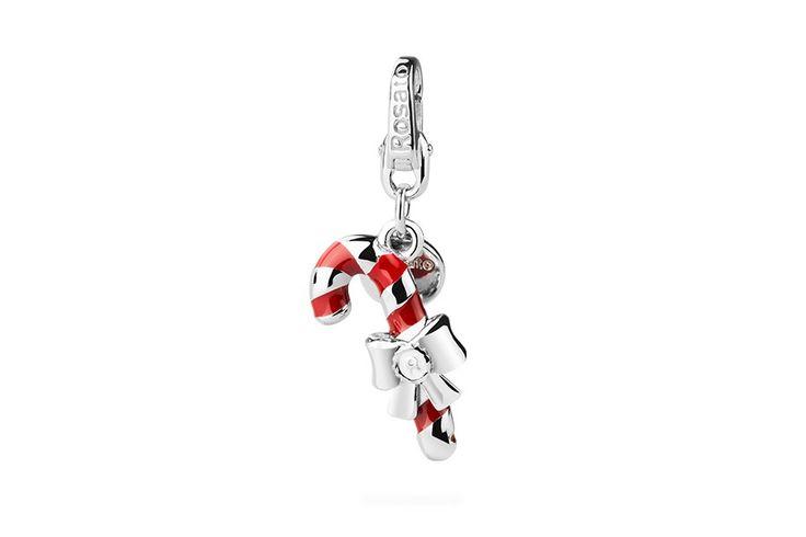 Silver Charm  - Candy Cane   #rosato #charm #christmas