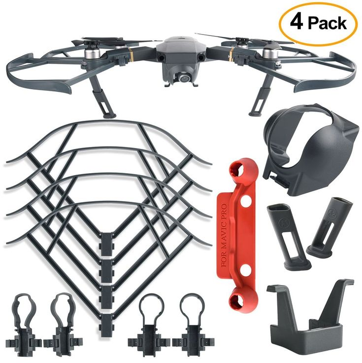 DJI Mavic Pro Accessories Protection Kit 4Pcs Prop Guard Landing Gear Lens Hood  #DJI