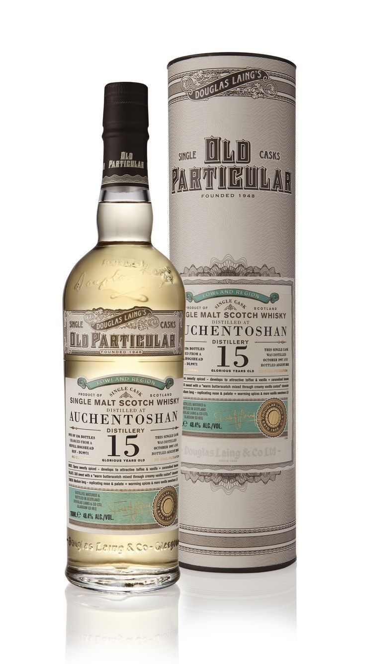Auchentoshan 15 Years Old Lowlands Whisky Packaging Whiskey Packaging Whisky Bottle