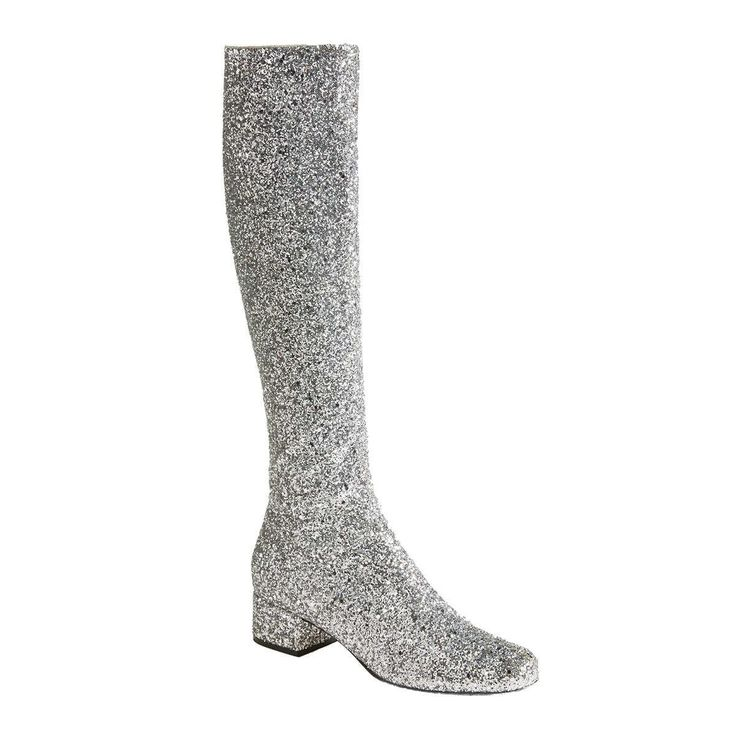 One pair of over-the-knee go-go boots, and you're basically the next Nancy Sinatra. These glitter ones from Saint Laurent add a whole new element of dazzle to the 60s style. Pair them with tights and your best mini skirt.