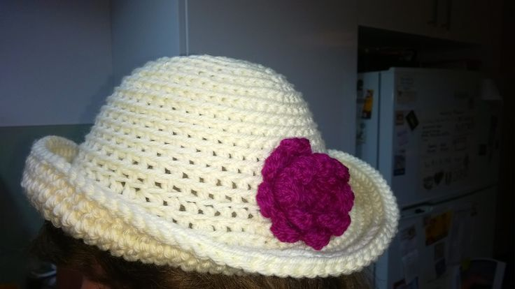 New addition to my craft offerings.  $30 @ the market or add postage.  Choose your colours when you order. This one is made of 12ply wool for the hat and 8 ply wool for the flower.