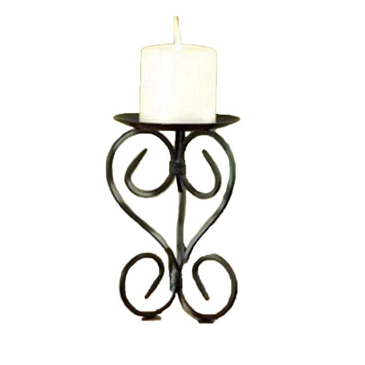 Candlestick Holders Handmade Iron Hanging Wall Candle Shelf Furnishing Articles