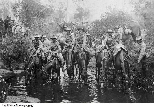 The Aussies treating their thirsty war horses !!!