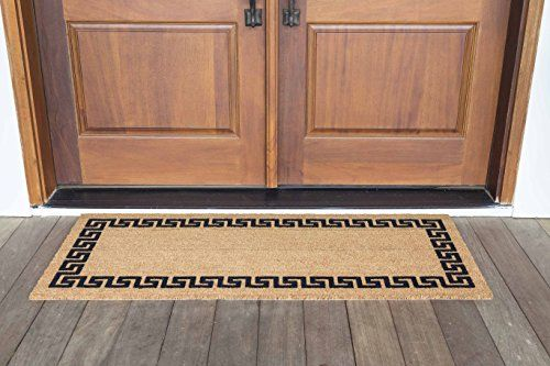 Decoir 24 X 60 Greek Key Large Coco Coir Double Door