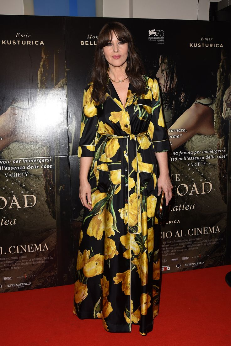 """Monica Bellucci wears Dolce&Gabbana for the Premier of the film """"On the milky way"""" in Rome. #DGCelebs"""