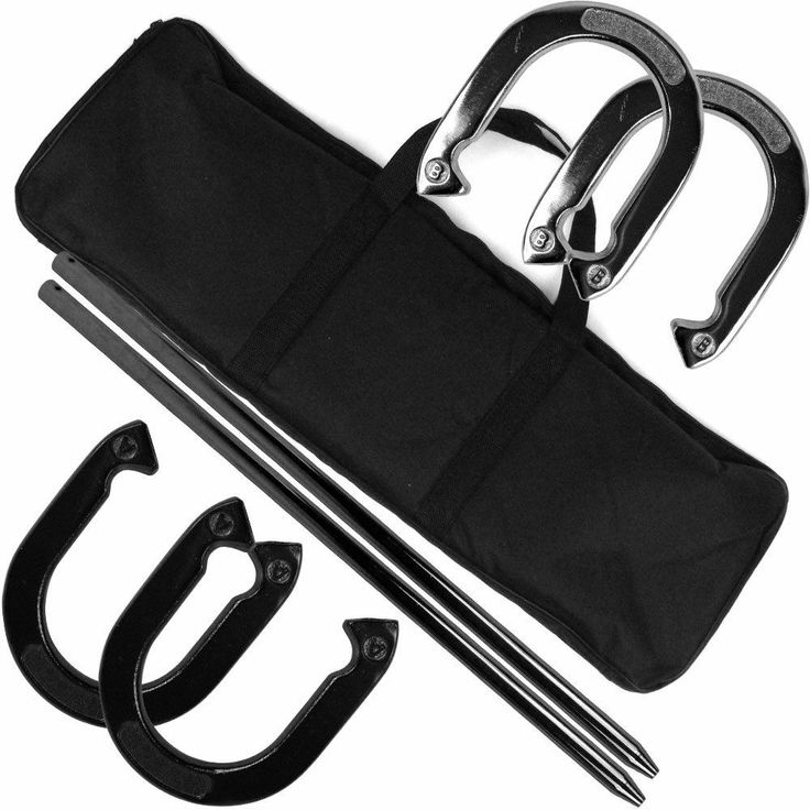 Professional Horseshoe Set with Carrying Case - Heavy Duty By Trademark Games
