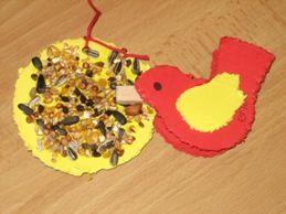 vogel met zaadjes