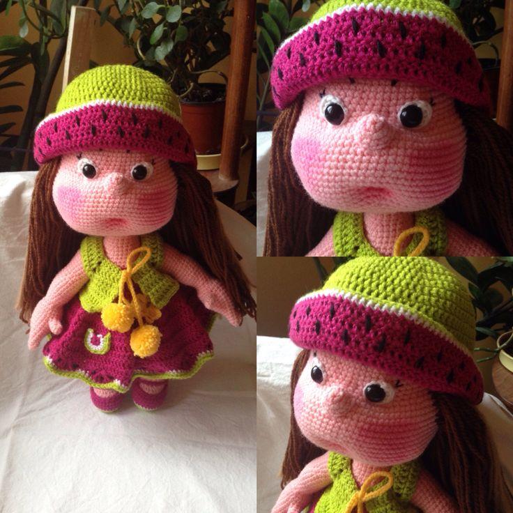 Crochet Mia doll, 45 cms tall. I don't sell pattern.