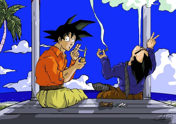 Anime Characters Smoking Weed : Female cartoons smoking weed marijuana goku dragon ball