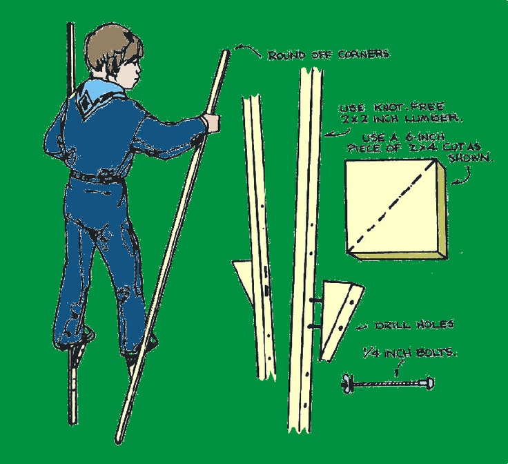 My Grandpa made me a set of stilts very similar to these when I was a kid.