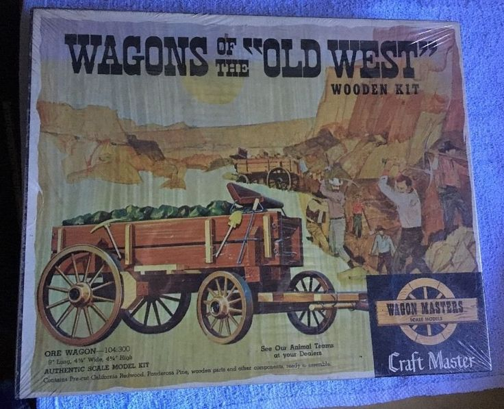 Craft Master Wagons of the Old West Ore Wagon Wooden Kit - New Sealed Box Scale #CraftMaster