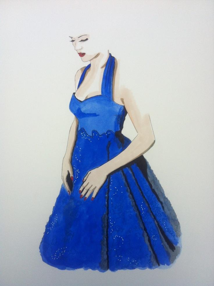 Vestido Carmen. Por Andres Ruiz Ilustrador.http://www.facebook.com/pages/Anita-Singers/565541916806170