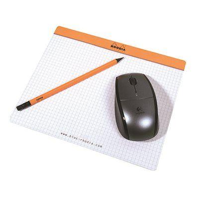 Tapis de souris bloc-notes Orange