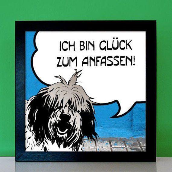 personalisiertes geschenk fur bobtail freunde und etsy novelty sign signs leinwand 120x60 20x20 preisvergleich