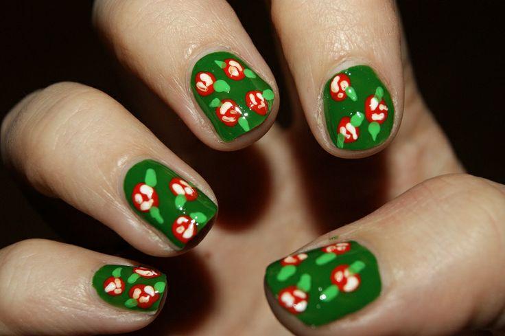 Flower nail art by me :) Cassandra Berg #nailart #naildesign #nails #nailpolish #negler #negledesign #neglelakk