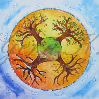 Kamilla Harmónia: Négy évszak mandala almafával