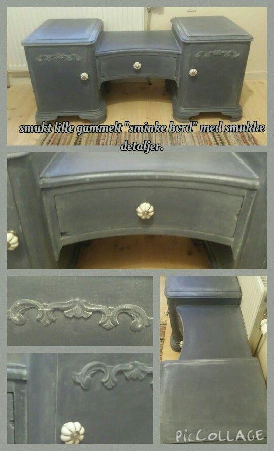 Chalk paint sminkebord, med dry brush detaljer