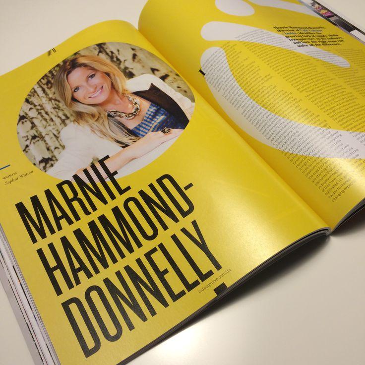 Our director Marnie Hammond in DQ magazine